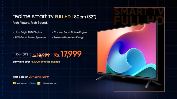 The Realme Smart TV Full HD will be available at a special early bird price of  <span class='webrupee'>₹</span>17,999 for a limited time.