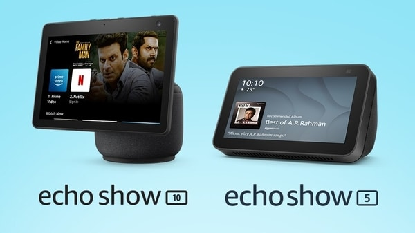 The new Amazon Echo Show 10 and the Echo Show 5