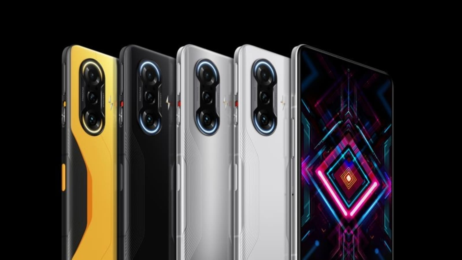 Poco F3 GT teased color variations and designs;  look at Predator Black and Gunmetal Silver