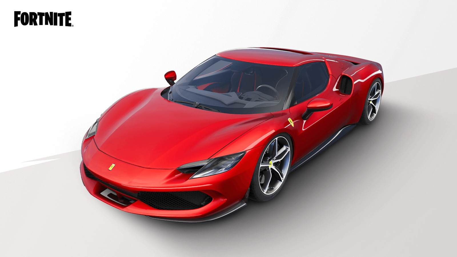 Good news!  Ride a Ferrari at Fortnite, made possible by Epic Games.
