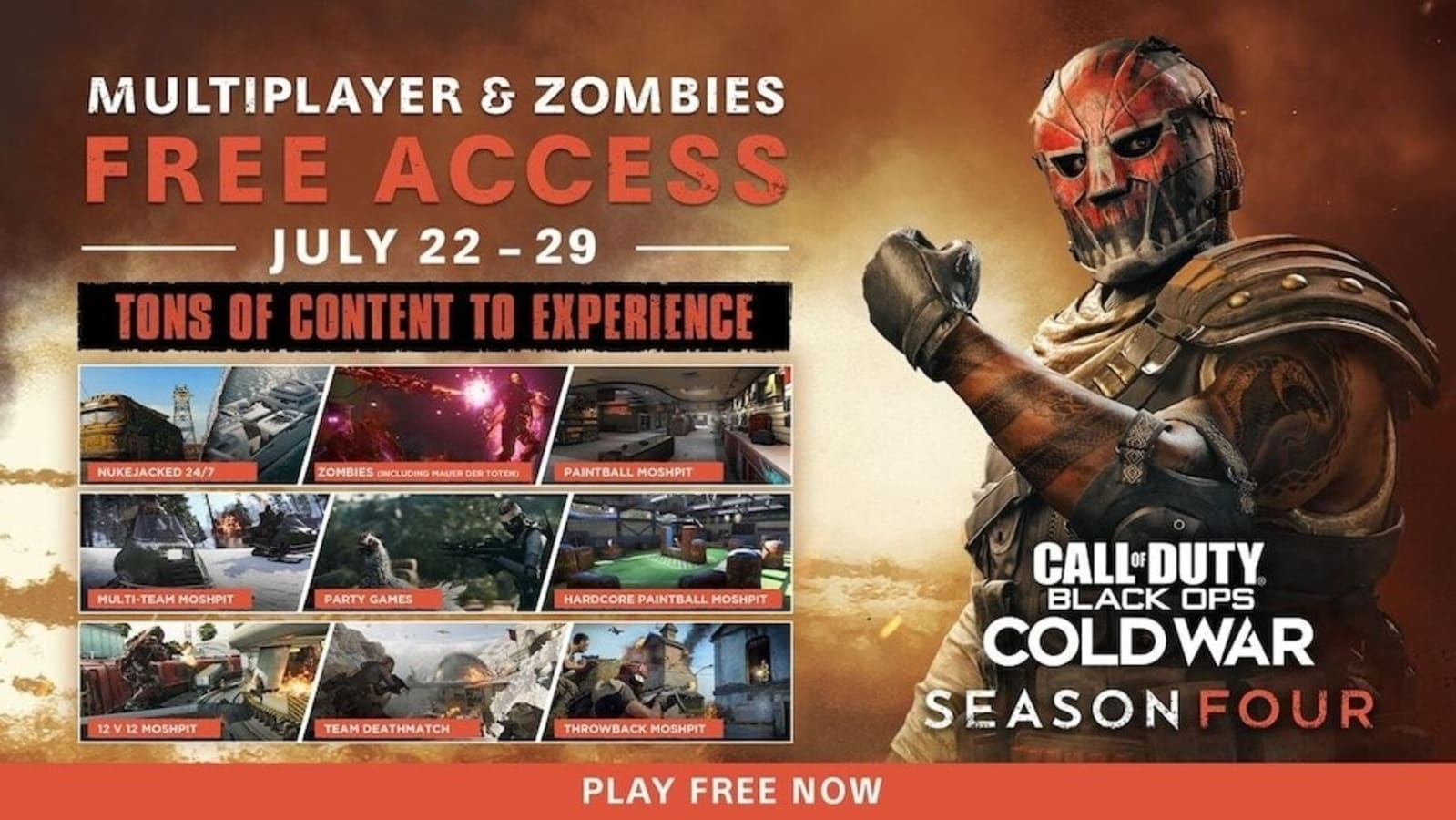 Call of Duty: Black Ops Cold War is a free way to test the multiplayer Zombies for free