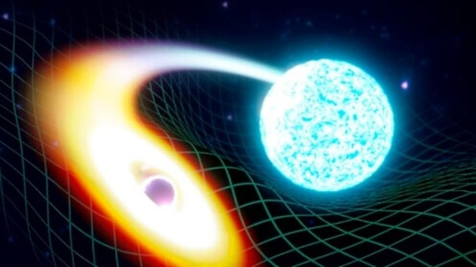 Light coming from the back of a black hole was first written about by Albert Einstein in his general theory of relativity