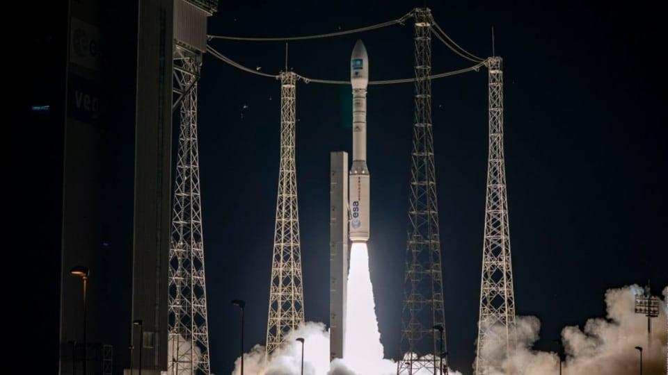 The latest Vega also carried four miniature satellites known as