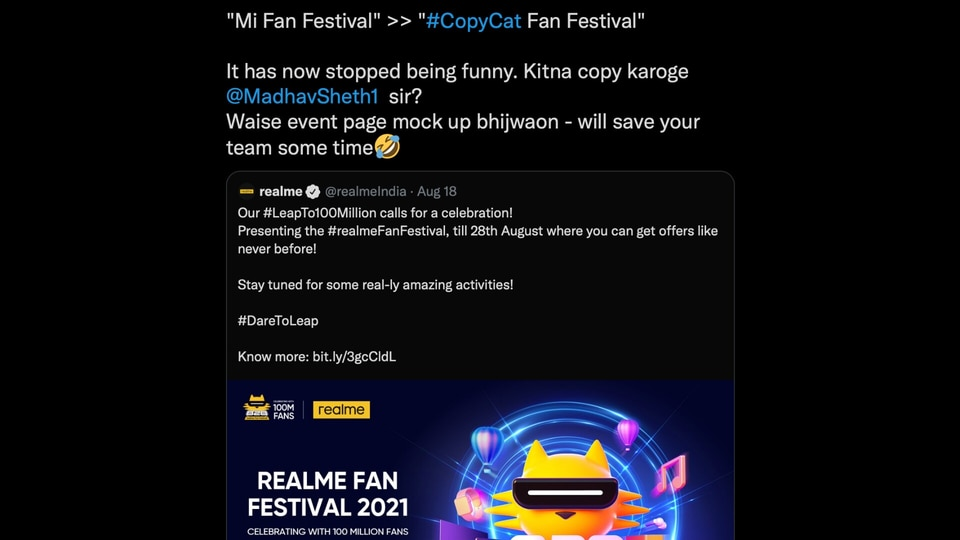Realme and Xiaomi have been battling it out over products for a while now.