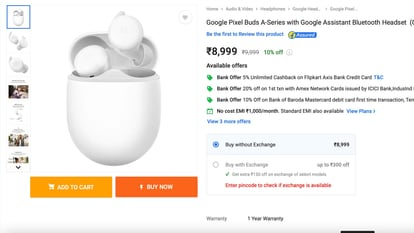 The Google Pixel Buds A-Series has 12mm dynamic speaker drivers, hands-free Google Assistant support, real-time translation in 40 languages including Bengali, Hindi, and Tamil.