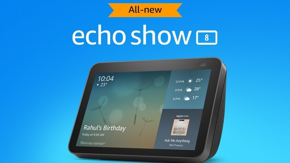 The newly launched Echo Show 8 like all other smart speakers and smart displays by Amazon is powered by the company's virtual assistant Alexa.
