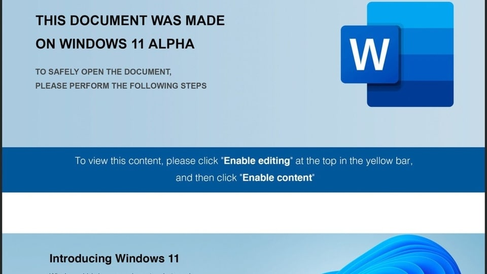 Windows 11 Alpha malware attack can potentially lead to loss of money for Microsoft OS users who fall for the phishing and spear phishing campaign.