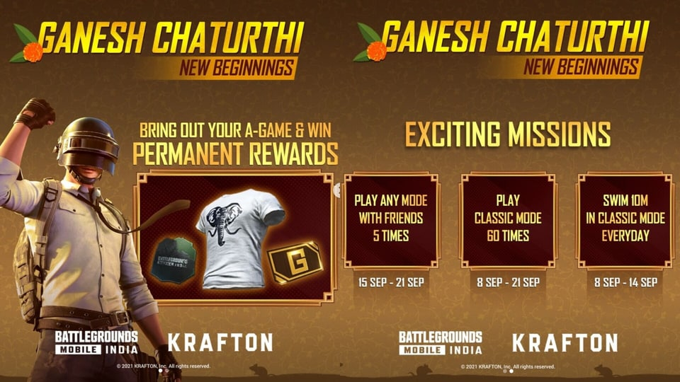 The first mission that's a part of the Ganesh Chaturthi celebrations is live and will be available till September 14.