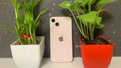 The iPhone 13 comes with a 6.1-inch all screen OLED Super Retina XDR display with a resolution of 2532x1170 pixels and a density of 460 ppi. It features a true tone display with haptic touch, fingerprint resistant oleophobic coating and 1,200 nits of peak brightness.