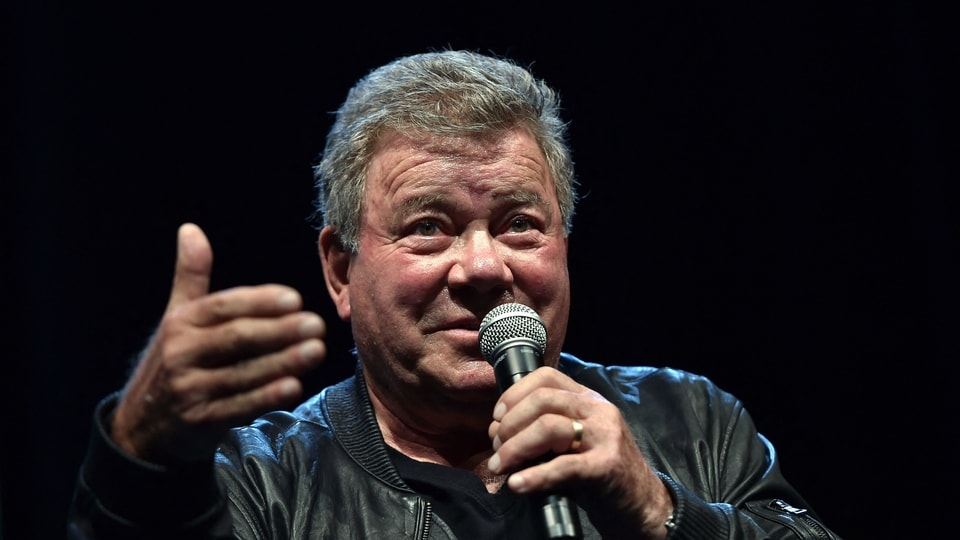 William Shatner, who essayed the iconic role of Captain Kirk in the famous Star Trek serial, would be on the October 12 Blue Origin space flight. William Shatner, who is 90 years old, will set a new record by becoming the oldest person ever to go to space. (File Photo by JOSH EDELSON / AFP)