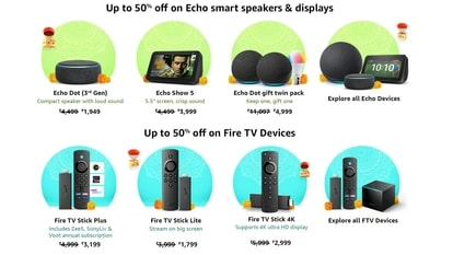 Amazon India has announced that it is offering a 10% instant discount of up to  <span class='webrupee'>₹</span>12,750 on the purchase of various products during the Great Indian Festival.