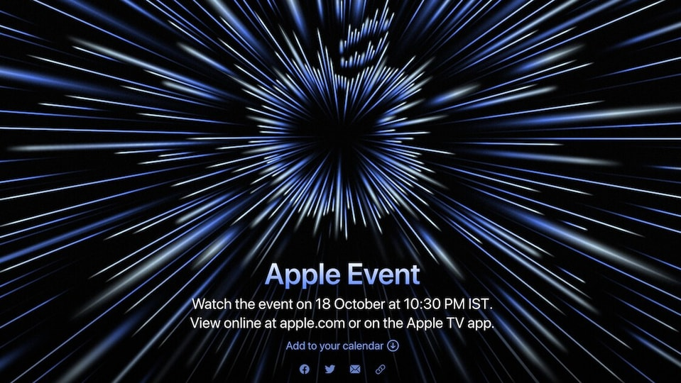 Apple Event for the rumoured MacBook Pro models and AirPods 3 will be held on October 18.