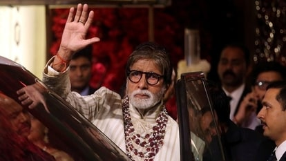 FILE PHOTO: Bollywood actor Amitabh Bachchan leaves after attending the wedding ceremony of Isha Ambani, the daughter of the Chairman of Reliance Industries Mukesh Ambani, in Mumbai, India, December 13, 2018. REUTERS/Francis Mascarenhas/File Photo