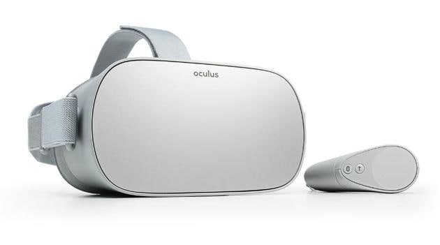 Facebook's Oculus Go headset comes in two colour options of black and white.