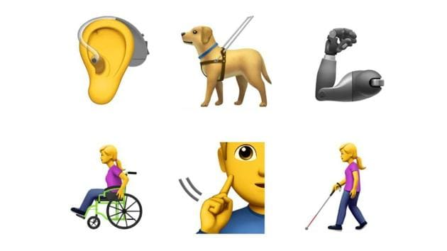 The proposed emojis depict people who experience blindness or low-vision, deafness or have trouble hearing.