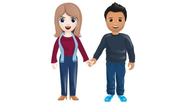 Interracial emojis will be available later this fall.