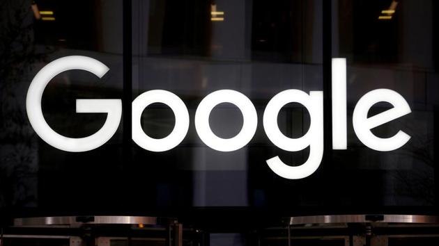 The Google logo is pictured at the entrance to the Google offices in London, Britain January 18, 2019.
