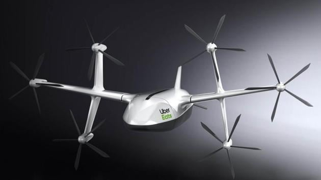 Uber Eats delivery drone has six rotors