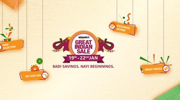 Amazon Great Indian Sale will begin on January 19.