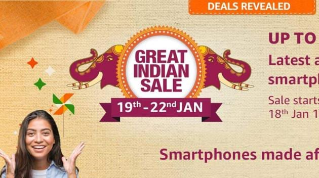 Amazon will kick-off its Great Indian Sale starting January 22, 2020.