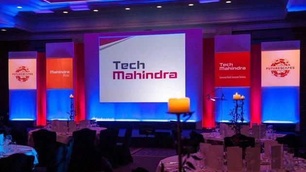 Tech Mahindra logo.