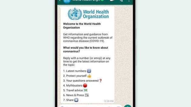 WHO joins WhatsApp to alert users on the coronavirus pandemic.