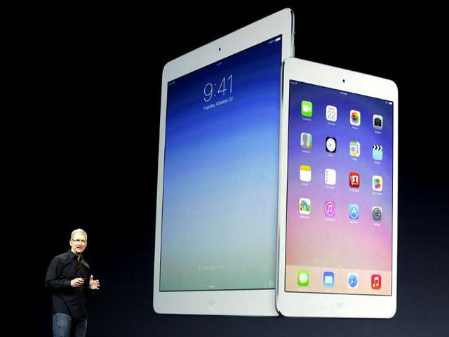 Apple CEO Tim Cook introduces the new iPad Air in San Francisco. (AP photo)