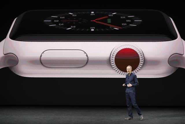 Jeff Williams, Apple COO, during the launch of the Apple SmartWatch.