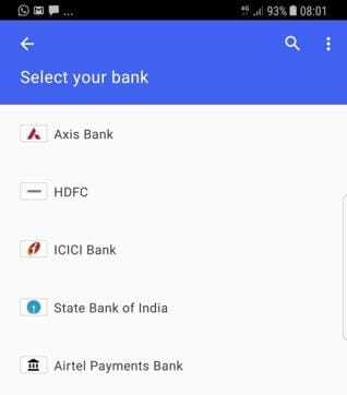 Google Tez supports all Indian banks.