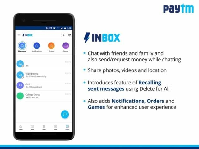 Apreview of the Paytm Inbox interface.