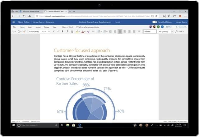 Here's how the new simplified ribbon will look like on MS Word