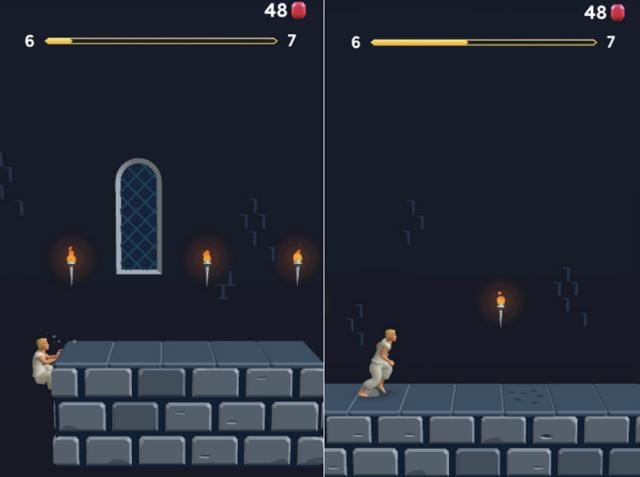 Screenshots of Prince of Persia Escape on iOS.