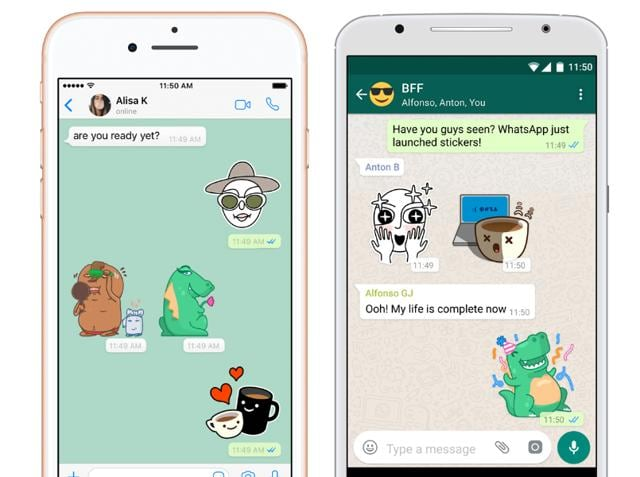 WhatsApp stickers on iOS and Android.