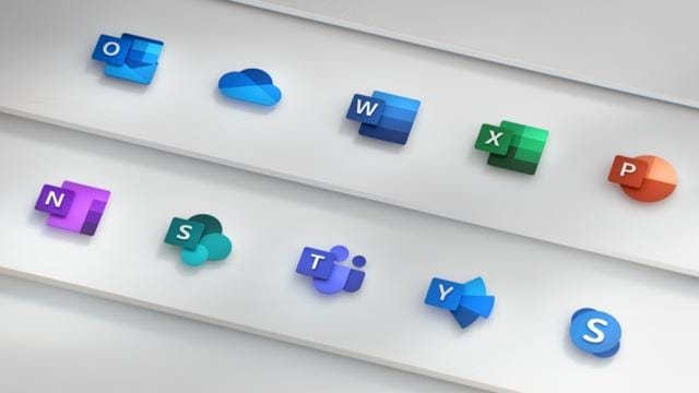 Microsoft Office icons get 3D look and feel