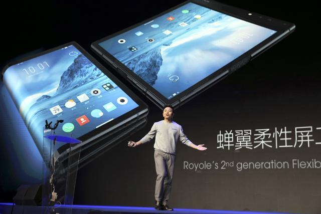 Royole Corporation founder and CEO Bill Liu last year unveiled what is described as the world's first commercial foldable smartphone.