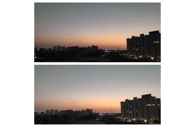Comparison between lowlight photos with different modes (image resized for web)