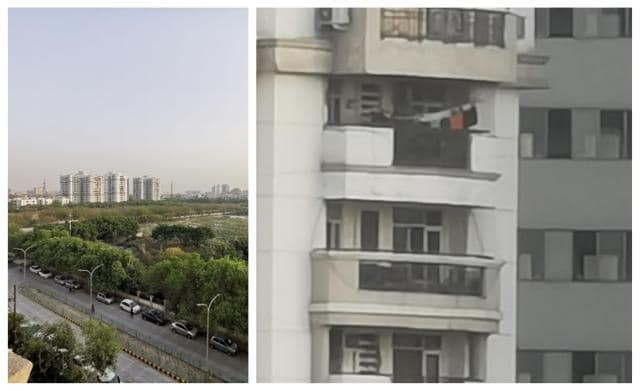 Photo in left hand side taken in ultra wide angle mode vs 50x zoom on the right hand side (image resized for web)
