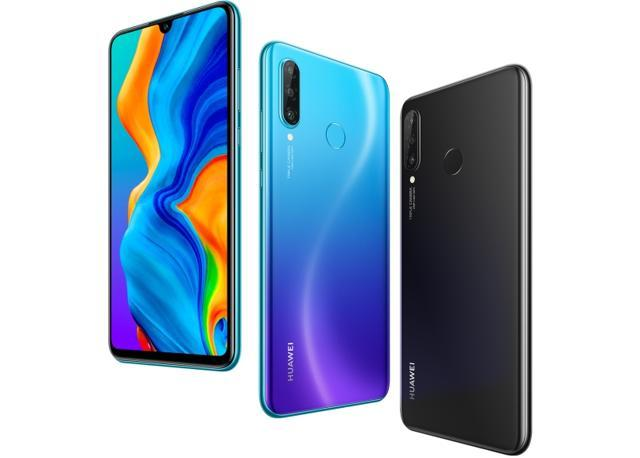 Huawei P30 Lite is available in three colour options, Midnight Black, Pearl White, Peacock Blue