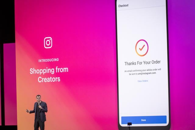 Adam Mosseri, chief executive officer of Instagram Inc., speaks during the F8 Developers Conference in San Jose, California, U.S., on Tuesday, April 30, 2019. Facebook Inc. unveiled a redesign that focuses on the Groups feature of its main social network, doubling down on a successful but controversial part of its namesake app — and another sign that Facebook is moving toward more private, intimate communication.
