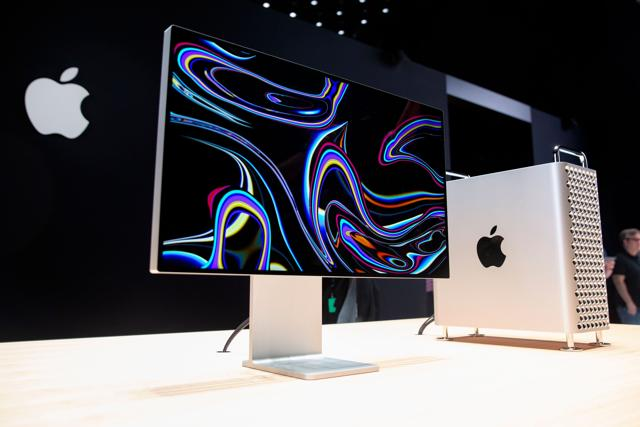 Apple's new Mac Pro sits on display in the showroom during Apple's Worldwide Developer Conference (WWDC) in San Jose, California on June 3, 2019.