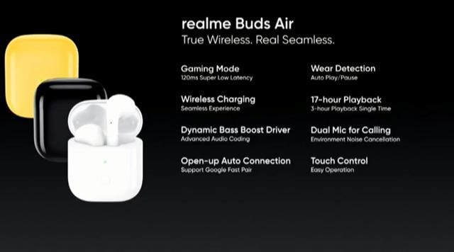 Realme Buds Air is available in black, yellow and white colour options