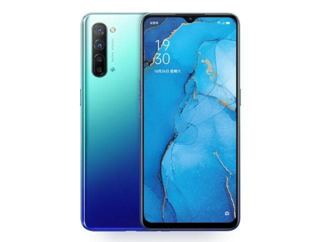 Oppo Reno 3 comes with a dewdrop notch on the front.