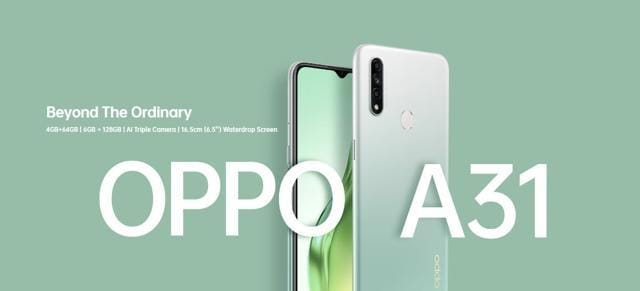 The Oppo A31 will be backed by a 4,240mAH battery.