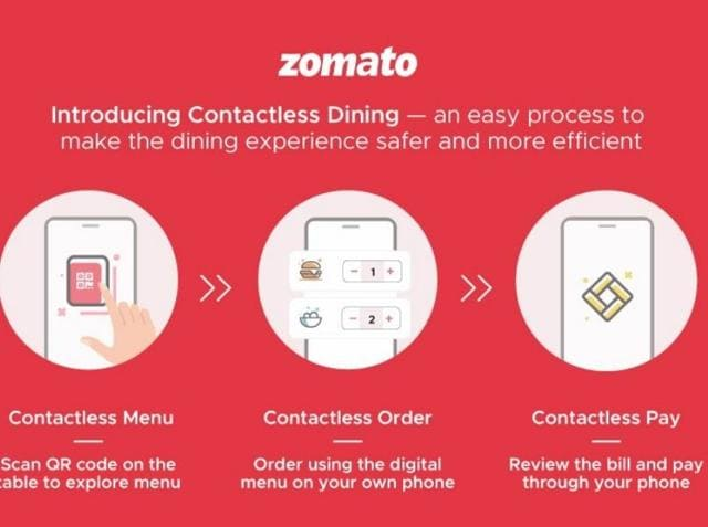 Zomato's contactless dining to begin once lockdown lifts.
