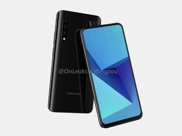 Samsung's pop-up camera phone renders.