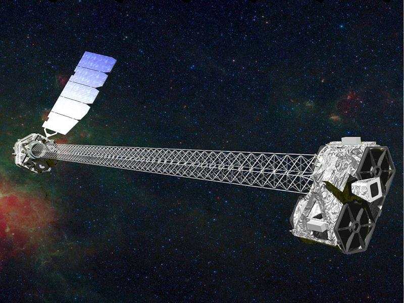 This-illustration-obtained-courtesy-of-NASA-shows-an-artist-s-concept-of-NuSTAR-a-sophisticated-orbiting-telescope-that-uses-high-energy-X-ray-vision-to-hunt-for-black-holes-in-the-universe-poised-to-launch-on-June-13-2012-The-Nuclear-Spectroscopic-Telescope-Array-NuSTAR-will-first-be-carried-into-the-skies-by-a-jet-which-will-deploy-a-rocket-that-sends-the-satellite-into-space-NASA-said-AFP