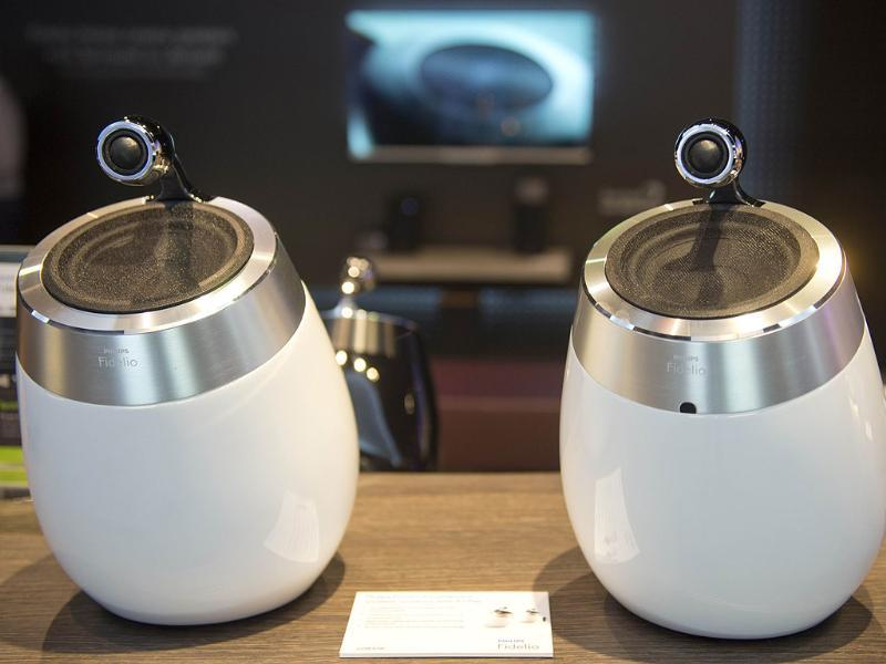 Philips 'Fidelio' wireless speakers are seen at the booth of Dutch electronics company Philips at the 53rd IFA electronics trade fair in Berlin on September 5, 2013. Photo: AFP / Odd Andersen