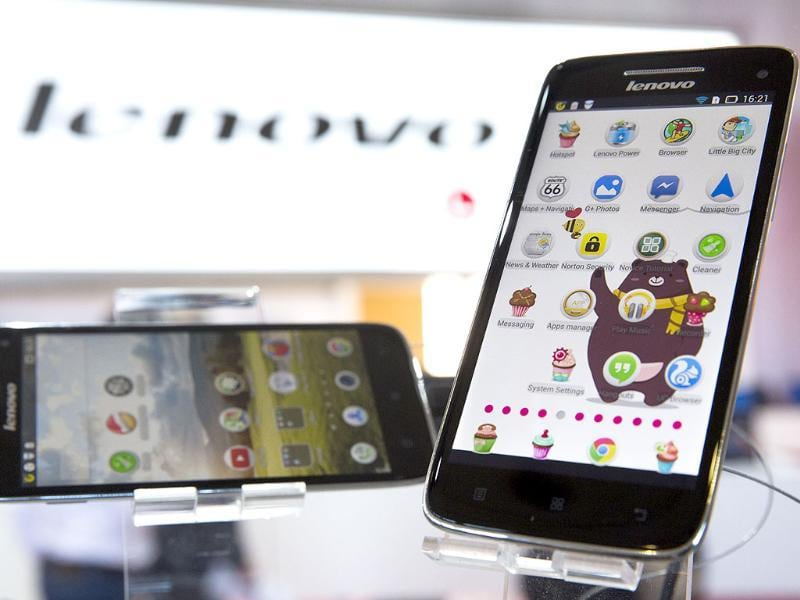 New Lenovo Vibe X smartphones are displayed at IFA, one of the world's largest trade fairs for consumer electronics and electrical home appliances in Berlin, Germany. Photo: AP/Gero Breloer