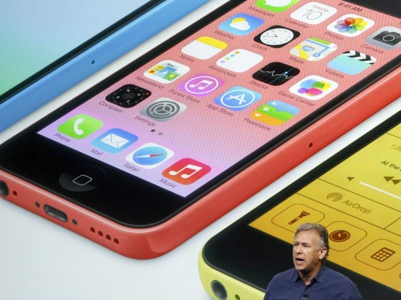Phil Schiller speaks on stage at Apple Inc's media event. (Reuters Photo)