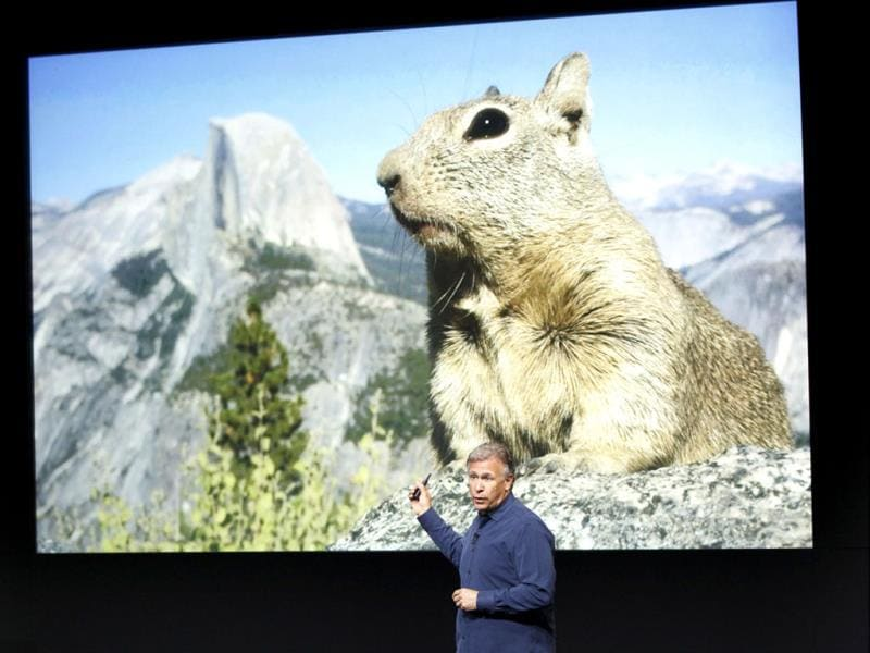 Phil Schiller talks about the new iPhone 5S camera at Apple Inc's media event in Cupertino, California. (Reuters Photo)